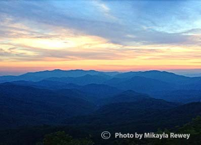 Smoky Mountains Sunset NC